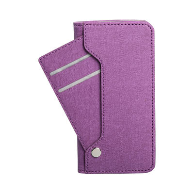 iPhone Leather Mobile Phone Protective Case with Side Pull Card Slot